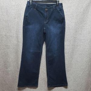 Lane Bryant Boot Jean Vintage Dark Wash EUC Sz 14